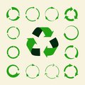 Recycle arrows vector set - ecology icons collection