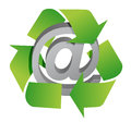 Recycle and att sign Stock Image
