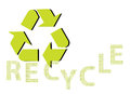 Recycle background with green sign Stock Images