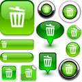 Recycle bin green signs. Royalty Free Stock Photo