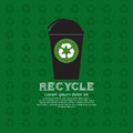 Recycle bin illustration concept vector eps Royalty Free Stock Images