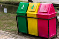 Recycle bin large for clean Royalty Free Stock Image