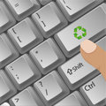 Recycle button in key board Stock Image