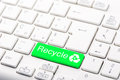 Recycle button on the keyboard Royalty Free Stock Photo