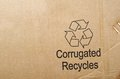 Recycle cardboard a symbol background Royalty Free Stock Photography
