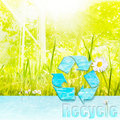 Recycle for a clean environment Stock Images