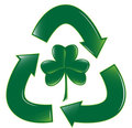Recycle Clover Royalty Free Stock Photo