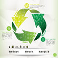 Recycle concept graphic element illustration and icon with copy space for text layout Stock Photography