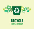 Recycle design over beige background vector illustration Royalty Free Stock Photo
