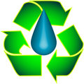 Recycle and Droplet Stock Images