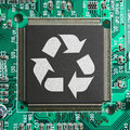 Recycle e-junk eco-friendly technology concept Royalty Free Stock Photo