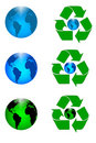 Recycle Earth Royalty Free Stock Photography