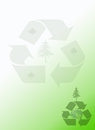 Recycle Earth Green Notepad Stationery Background Royalty Free Stock Photos