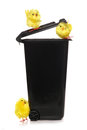 Recycle easter rubbish studio cutout Royalty Free Stock Photo