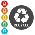 Recycle eco symbol, Recycle sign Royalty Free Stock Photo