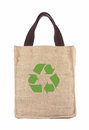 A Recycle Ecology shopping bag Stock Photo