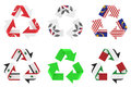 Recycle flag Stock Images