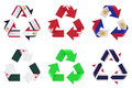 Recycle flag Royalty Free Stock Photography