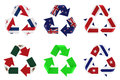 Recycle flag Royalty Free Stock Photos