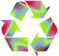 Recycle on funky rainbow Royalty Free Stock Image