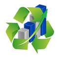 Recycle graph sign Stock Photo