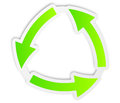 Recycle green icon Royalty Free Stock Photography