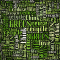 Recycle and Green info-text graphic Stock Image