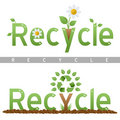 Recycle Headline Logos Royalty Free Stock Images