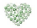 Recycle heart Royalty Free Stock Image