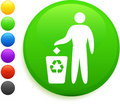 Recycle icon on round internet button Royalty Free Stock Photography