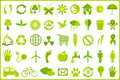 Recycle Icon Set Stock Image