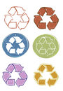 Recycle icon set vector illustration Royalty Free Stock Photo