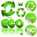 Recycle icons. Royalty Free Stock Photos