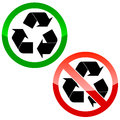Recycle icons isolated on white vector illustration Royalty Free Stock Photo