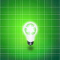 Recycle idea bulb green light Royalty Free Stock Photo