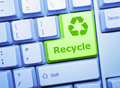 Recycle key Royalty Free Stock Images