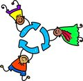 Recycle kids Stock Photography