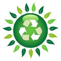 Recycle Leaf Symbol Royalty Free Stock Images