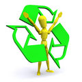 Recycle Man Royalty Free Stock Photography