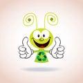 Recycle mascot cartoon character Royalty Free Stock Photo