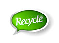 Recycle message illustration design Royalty Free Stock Photo