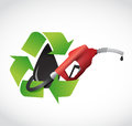 Recycle oil, gas pump concept illustration Royalty Free Stock Photo