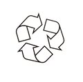 A recycle packing symbol isolated white Royalty Free Stock Photography