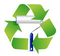 Recycle paint roller illustration design over a white background Royalty Free Stock Photography
