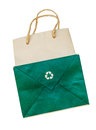 Recycle paper bag white background Royalty Free Stock Photography