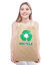 Recycle paper bag woman holding recycling Royalty Free Stock Photos
