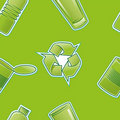 Recycle Pattern Repeat Royalty Free Stock Photography