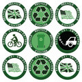 Recycle and Reduce Carbon Emissions Collection Stock Photo