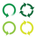 Recycle or reload page green icons a Stock Photo