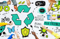 Recycle Reuse Reduce Bio Eco Friendly Environment Concept Royalty Free Stock Photo